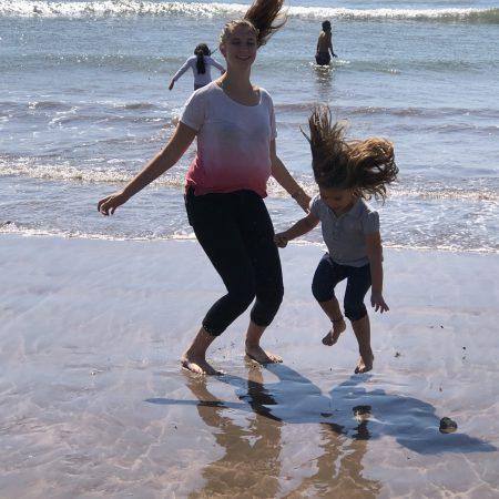 Au-pair am Strand